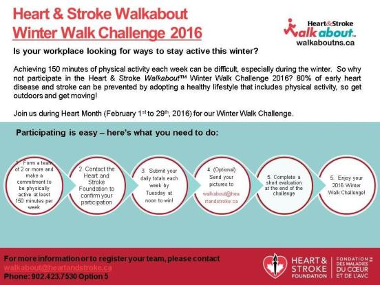HeartandStrokeWinter Walk 2016 Promotional Flyer