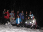 WomenOnSnowWednesday night snowshoe Jan 15 2014 KOA
