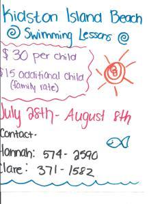 KidstonIslandSwimmingLessonsSummer2014