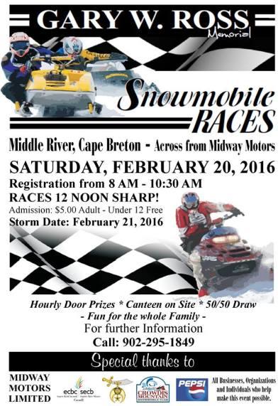 Gary Ross Memorial Snowmobile Races 2016