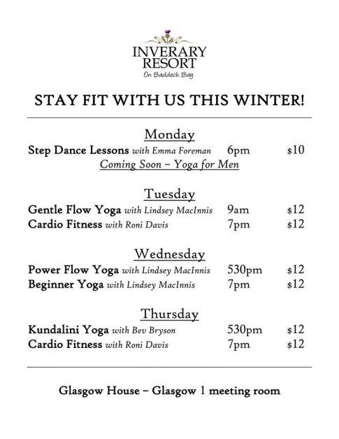 Inverary Resort Fitness Winter 2016