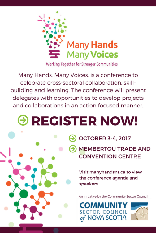 ManyHandsManyVoicesConferenceCSC Conference - EBlast Poster