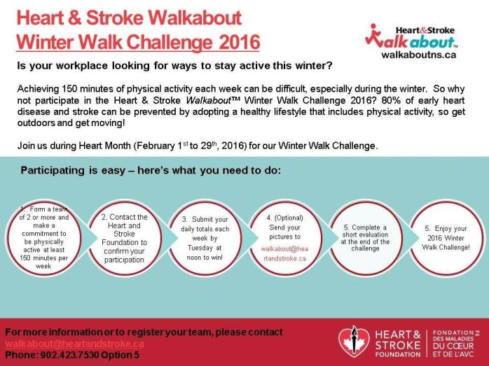 HeartandStrokeWinter Walk 2016 Promotional Flyer