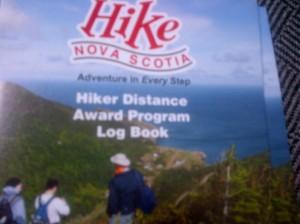 HikeNSHikerDistanceAwardProgramLogBookPic